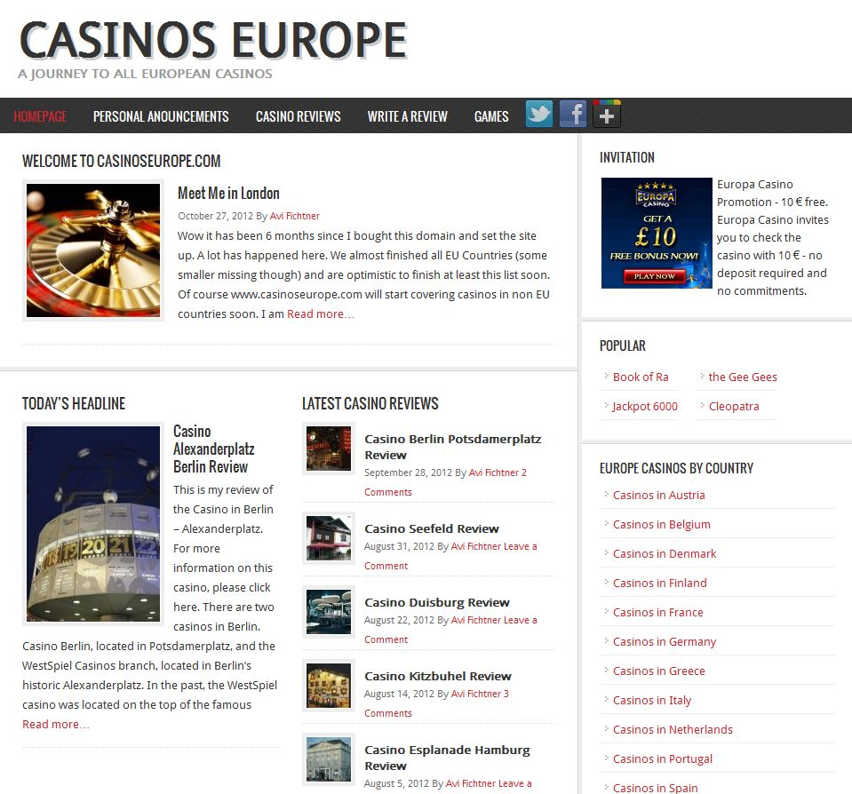 casinos in europe